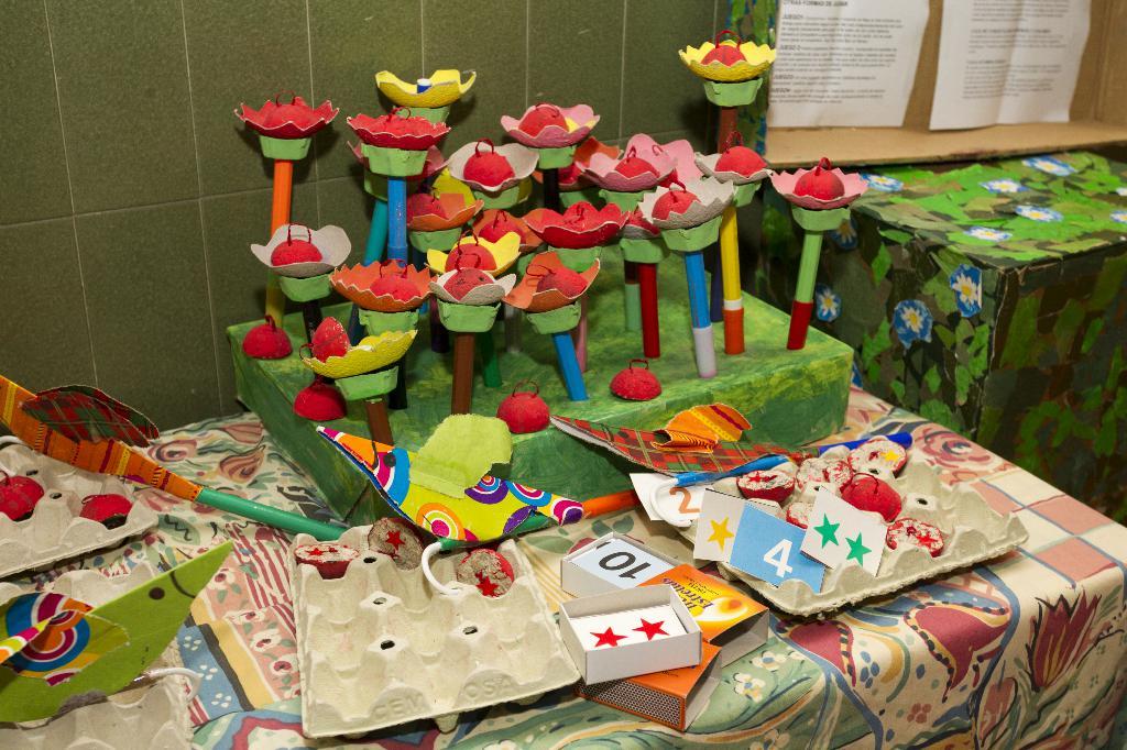 Imagen de alumnos en un recreo sostenible