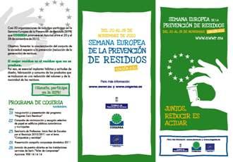 Imagen del folleto de la SEPR editado por COGERSA cabecera de la sección dedicada a la SEPR 2010