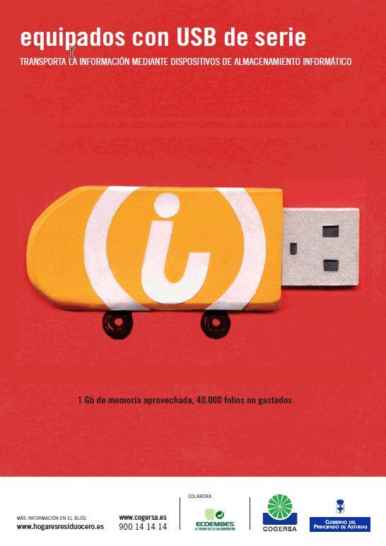 """Imagen del cartel """"Equipados con USB"""""""