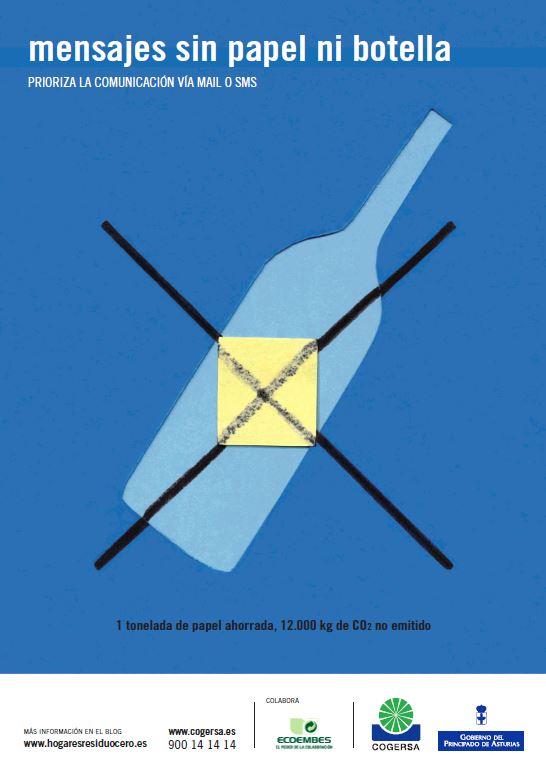 """Imagen del cartel """"Mensajes sin papel ni botella"""""""
