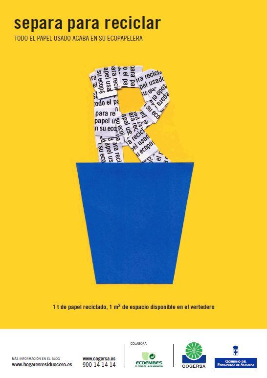 """Imagen del cartel """"Separa para reciclar"""""""