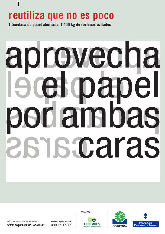 """Imagen del cartel """"Reutiliza que no es poco"""""""