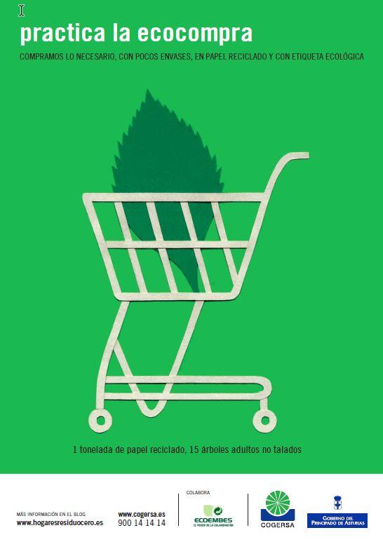 """Imagen del cartel """"Practica la ecocompra"""""""
