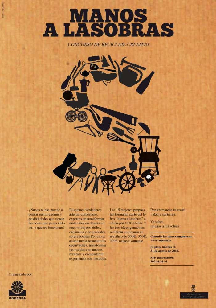 Imagen del cartel del concurso Manos a lasobras