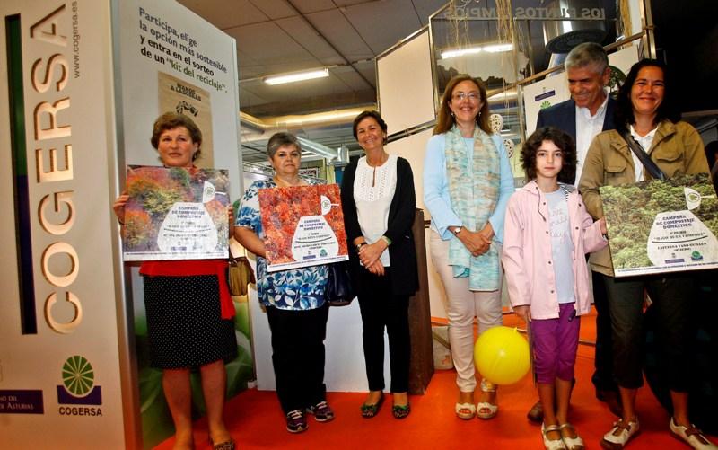 Foto de los ganadores del concurso Hago un Buen Compost 2013