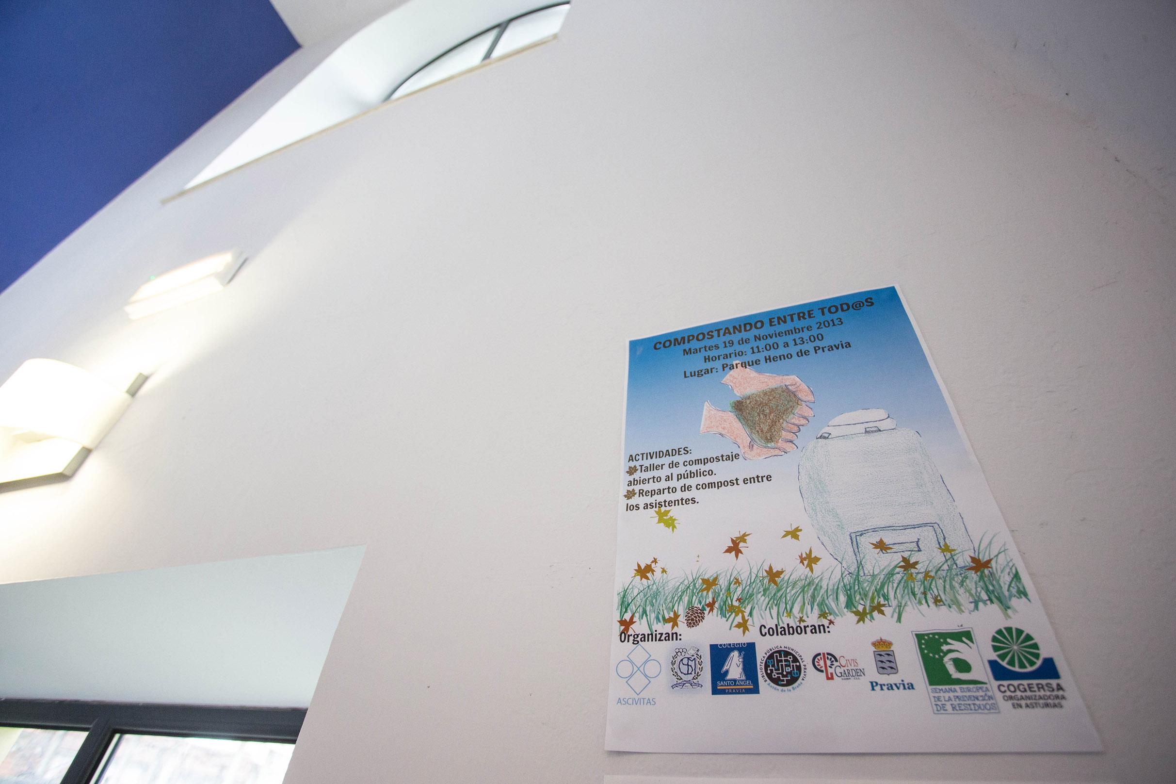 Imagen de una presentación de la campaña de compostaje doméstico de COGERSA