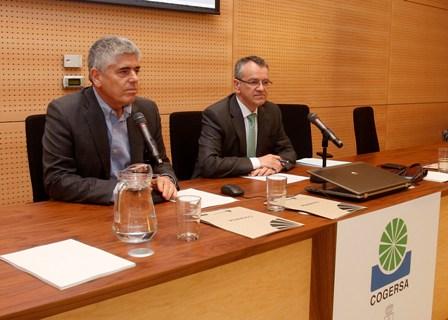 Inauguración de la jornada por el vicepresidente y el gerente de COGERSA