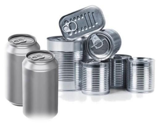 Foto de latas metálicas