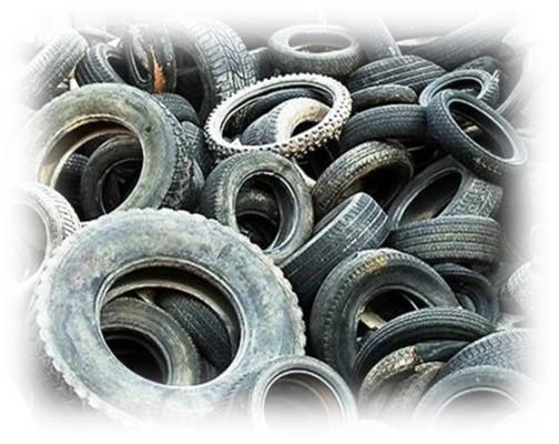 Foto de neumáticos usados