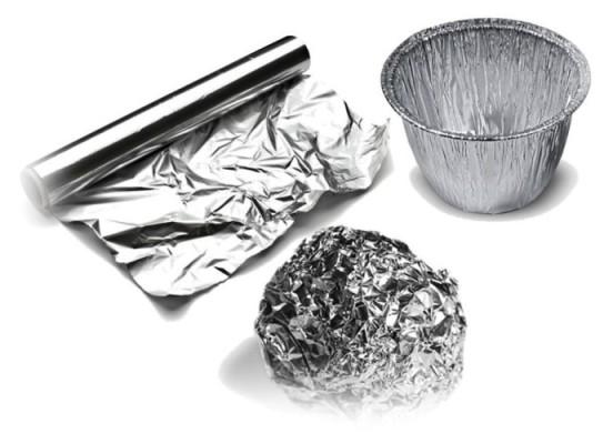 Foto de papel de aluminio