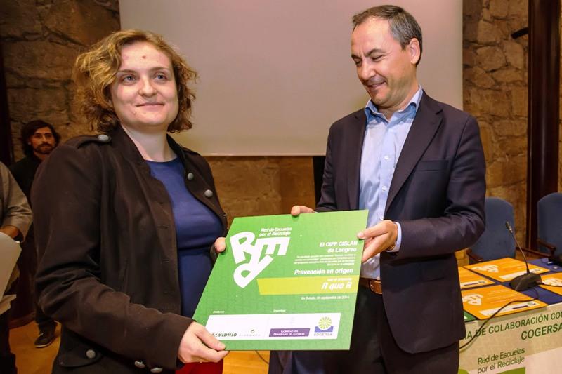 Entrega del premio al CIFP CISLAN