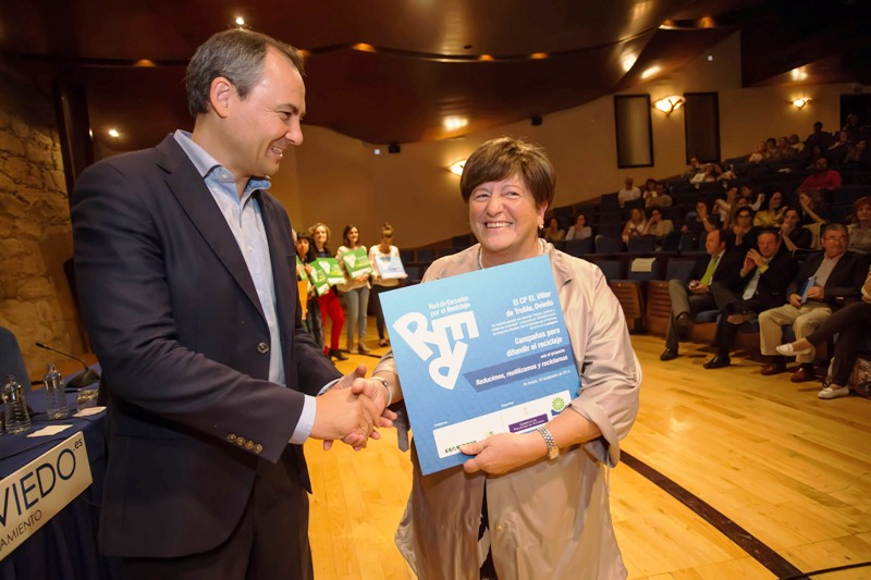 Entrega del premio al CP El Villar