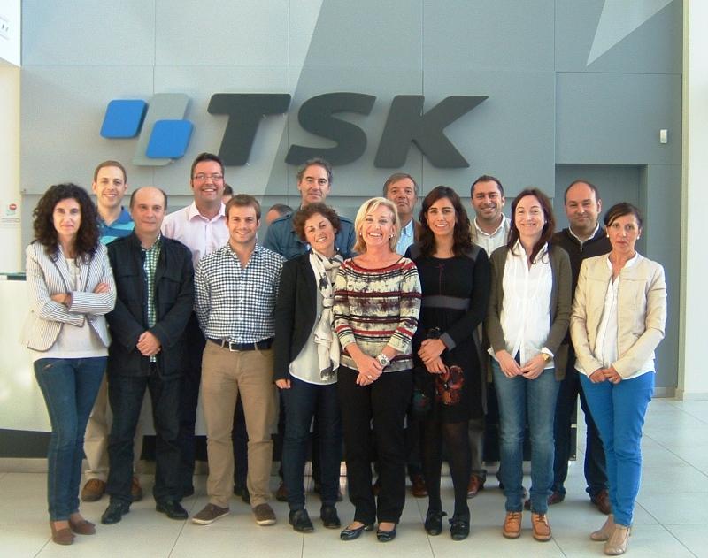 Foto del equipo de desarrollo de ReCO2very en las instalaciones de INGEMAS_Grupo TSK durante la reunión de lanzamiento del proyecto
