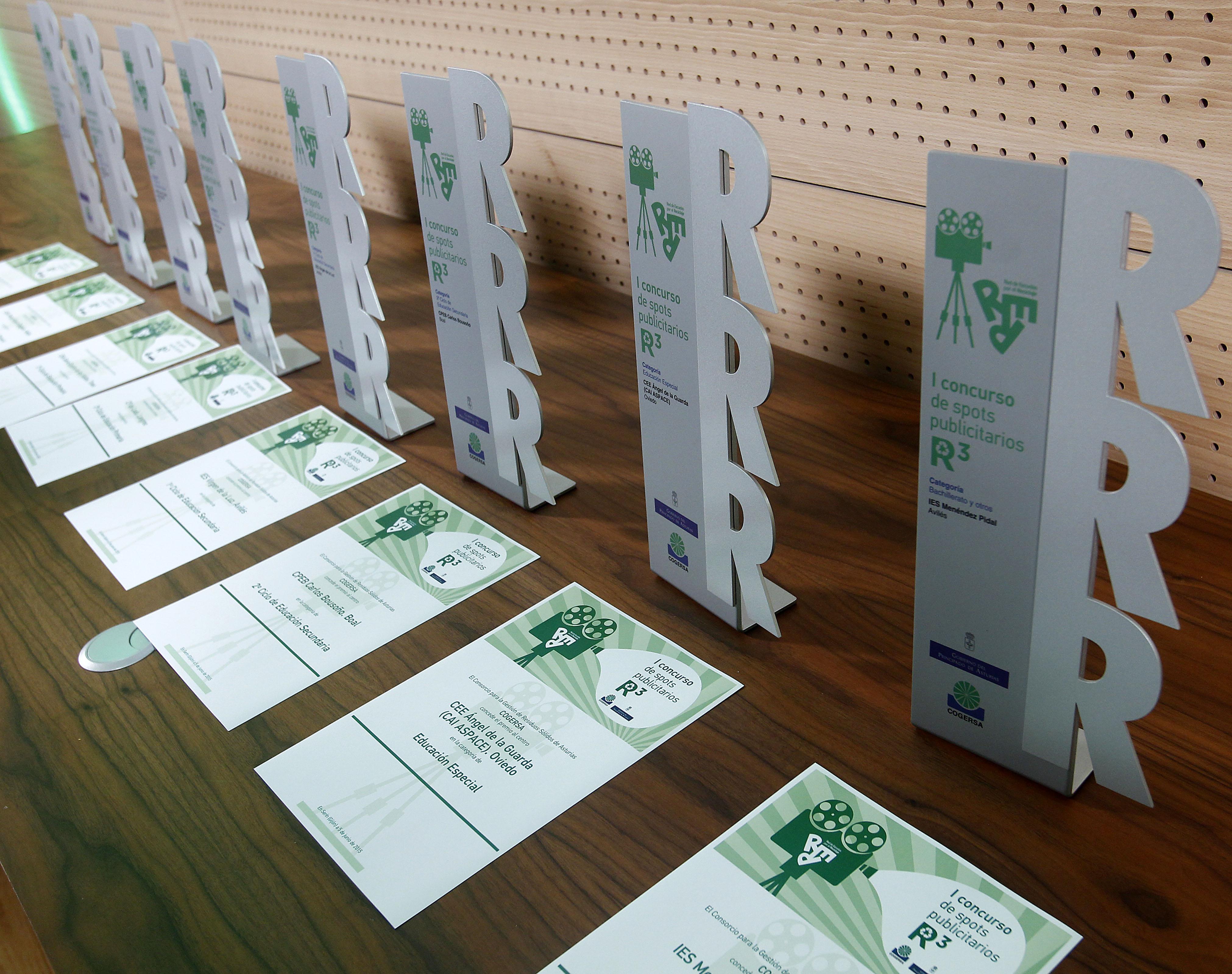 Ganadores del concurso de anuncios de la Red de Escuelas por el Reciclaje