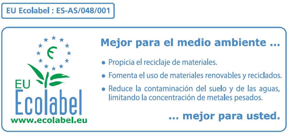 Etiqueta ecológica del compost de COGERSA obtenido a partir de restos vegetales