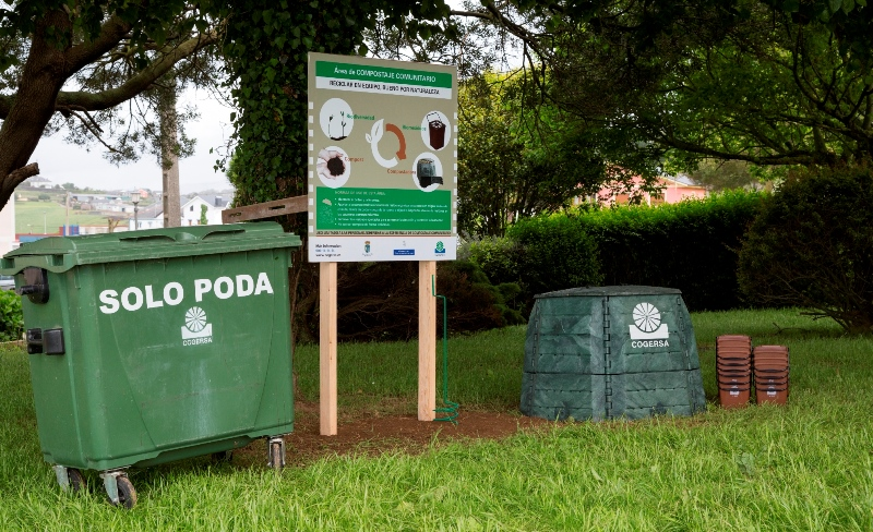 Zona de compostaje comunitario de COGERSA